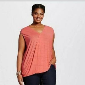 Ava & viv sleeveless drape blouse top plus